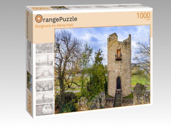"Puzzle Motiv ""Burgruine im Verna Park"" - Puzzle-Schachtel zu 1000 Teile Puzzle"