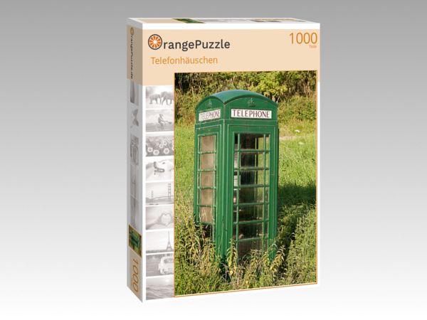 """Puzzle Motiv """"Telefonhäuschen"""" - Puzzle-Schachtel zu 1000 Teile Puzzle"""