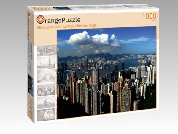 """Puzzle Motiv """"Blick vom Victoria Peak über die Stadt"""" - Puzzle-Schachtel zu 1000 Teile Puzzle"""