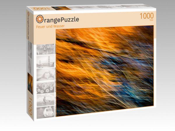 """Puzzle Motiv """"Feuer und Wasser"""" - Puzzle-Schachtel zu 1000 Teile Puzzle"""