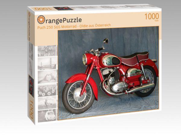"""Puzzle Motiv """"Puch 250 SGS Motorrad - Oldie aus Österreich"""" - Puzzle-Schachtel zu 1000 Teile Puzzle"""