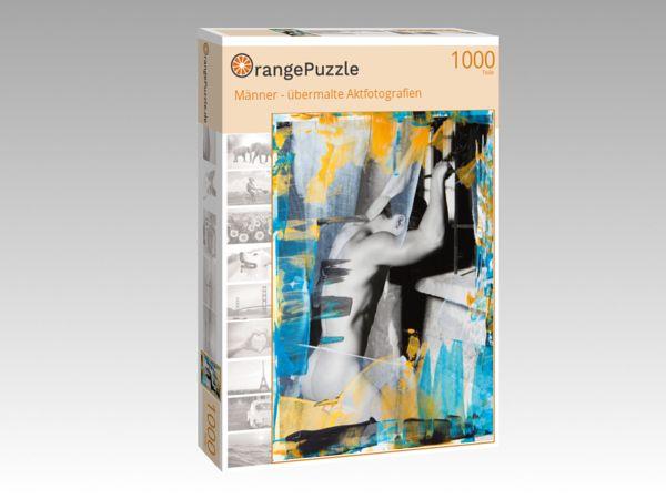 """Puzzle Motiv """"Männer - übermalte Aktfotografien"""" - Puzzle-Schachtel zu 1000 Teile Puzzle"""