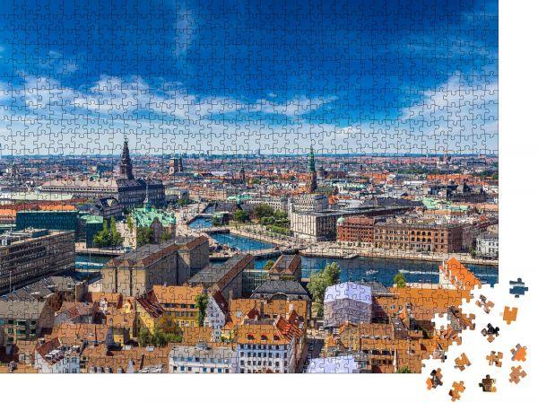 """Puzzle-Motiv """"Kopenhagen City, Dänemark, Skandinavien. Schöner Sommertag"""" - Puzzle-Schachtel zu 1000 Teile Puzzle"""