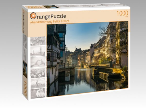 """Puzzle Motiv """"Abendstimmung Petite France"""" - Puzzle-Schachtel zu 1000 Teile Puzzle"""