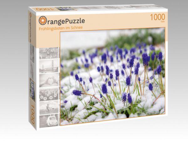 """Puzzle Motiv """"Frühlingsboten im Schnee"""" - Puzzle-Schachtel zu 1000 Teile Puzzle"""