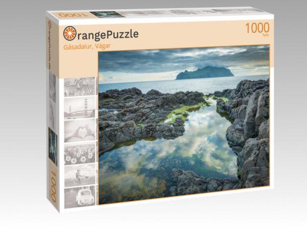 """Puzzle Motiv """"Gásadalur, Vágar"""" - Puzzle-Schachtel zu 1000 Teile Puzzle"""