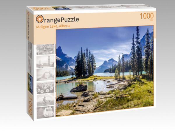 "Puzzle Motiv ""Maligne Lake, Alberta"" - Puzzle-Schachtel zu 1000 Teile Puzzle"