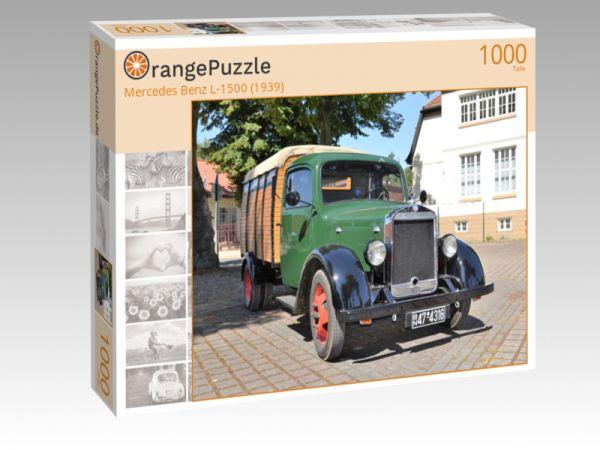 """Puzzle Motiv """"Mercedes Benz L-1500 (1939)"""" - Puzzle-Schachtel zu 1000 Teile Puzzle"""