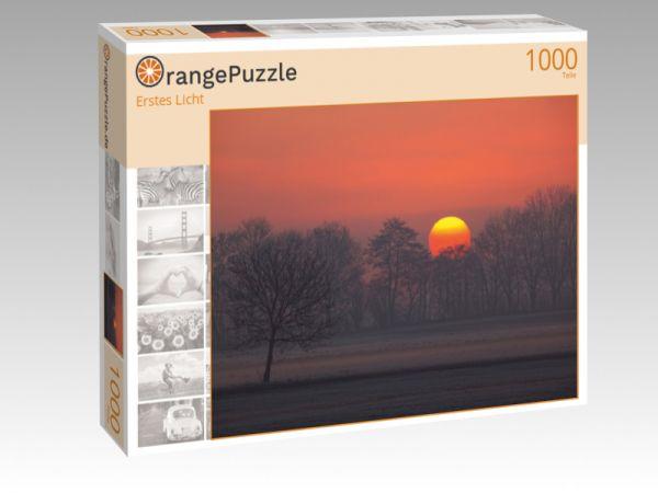 "Puzzle Motiv ""Erstes Licht"" - Puzzle-Schachtel zu 1000 Teile Puzzle"