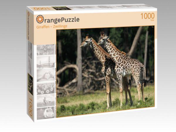 """Puzzle Motiv """"Giraffen – Zwillinge"""" - Puzzle-Schachtel zu 1000 Teile Puzzle"""
