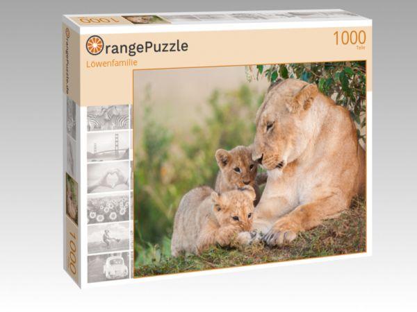 """Puzzle Motiv """"Löwenfamilie"""" - Puzzle-Schachtel zu 1000 Teile Puzzle"""