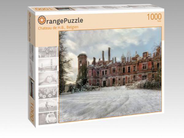 """Puzzle Motiv """"Chateau de H.B., Belgien"""" - Puzzle-Schachtel zu 1000 Teile Puzzle"""
