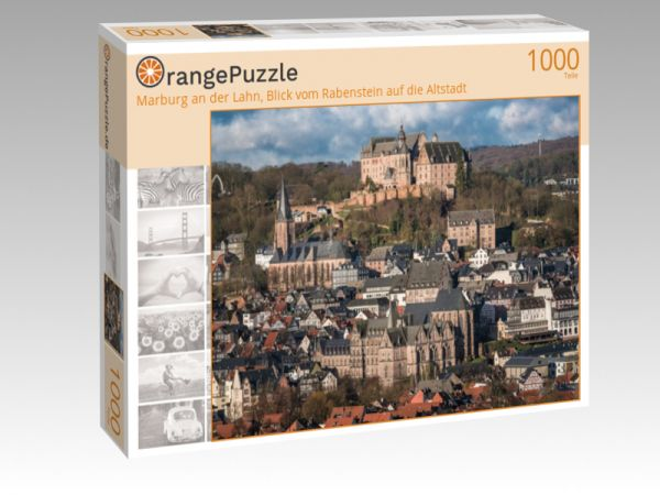 """Puzzle Motiv """"Marburg an der Lahn, Blick vom Rabenstein auf die Altstadt"""" - Puzzle-Schachtel zu 1000 Teile Puzzle"""