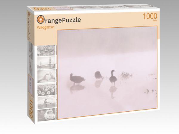 "Puzzle Motiv ""Wildgänse"" - Puzzle-Schachtel zu 1000 Teile Puzzle"