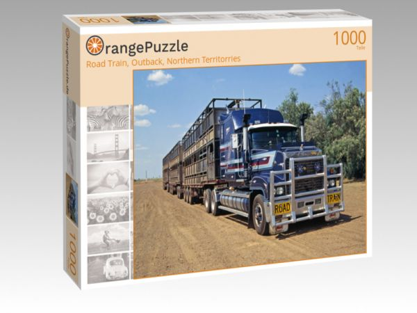 "Puzzle Motiv ""Road Train, Outback, Northern Territorries"" - Puzzle-Schachtel zu 1000 Teile Puzzle"