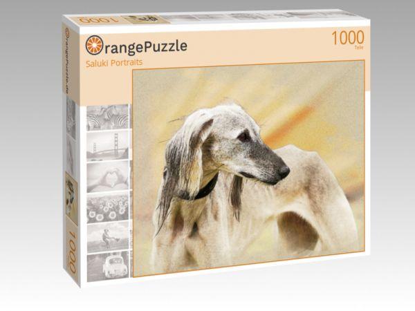 """Puzzle Motiv """"Saluki Portraits"""" - Puzzle-Schachtel zu 1000 Teile Puzzle"""