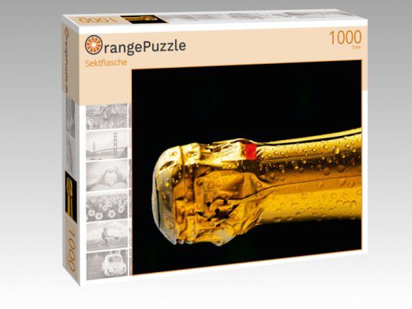 """Puzzle Motiv """"Sektflasche"""" - Puzzle-Schachtel zu 1000 Teile Puzzle"""