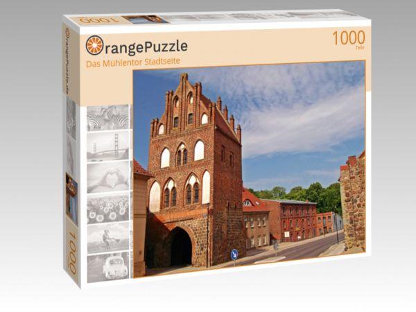"""Puzzle Motiv """"Das Mühlentor Stadtseite"""" - Puzzle-Schachtel zu 1000 Teile Puzzle"""