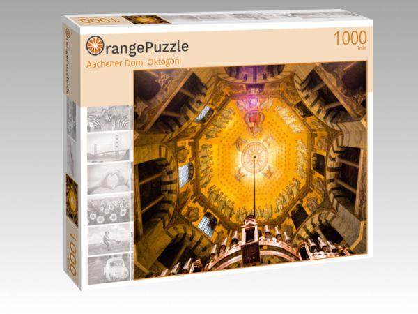 """Puzzle Motiv """"Aachener Dom, Oktogon"""" - Puzzle-Schachtel zu 1000 Teile Puzzle"""