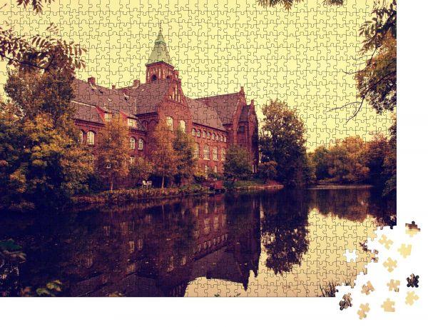 """Puzzle-Motiv """"Dänemark Herbstpark Schloss"""" - Puzzle-Schachtel zu 1000 Teile Puzzle"""