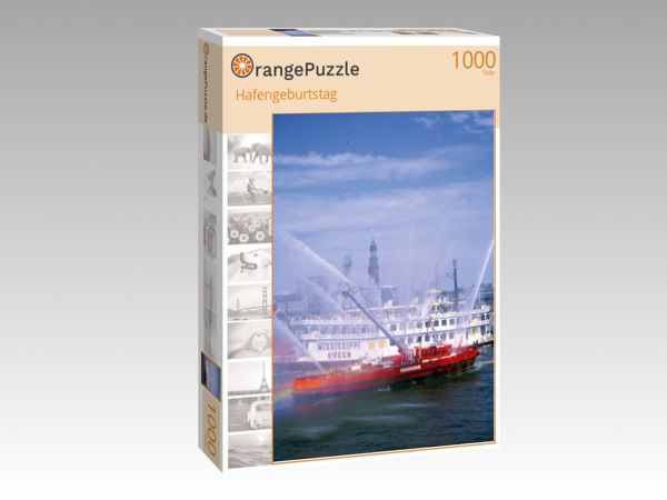 """Puzzle Motiv """"Hafengeburtstag"""" - Puzzle-Schachtel zu 1000 Teile Puzzle"""