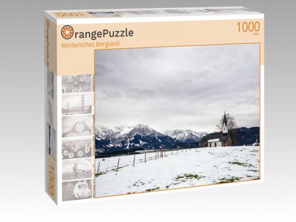 "Puzzle Motiv ""Winterliches Bergland"" - Puzzle-Schachtel zu 1000 Teile Puzzle"