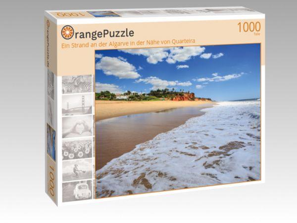 """Puzzle Motiv """"Ein Strand an der Algarve in der Nähe von Quarteira"""" - Puzzle-Schachtel zu 1000 Teile Puzzle"""