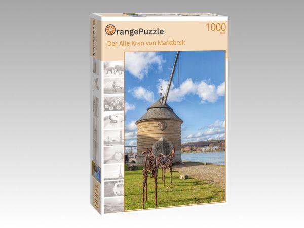 """Puzzle Motiv """"Der Alte Kran von Marktbreit"""" - Puzzle-Schachtel zu 1000 Teile Puzzle"""