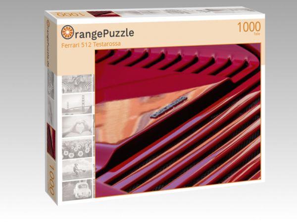 "Puzzle Motiv ""Ferrari 512 Testarossa"" - Puzzle-Schachtel zu 1000 Teile Puzzle"