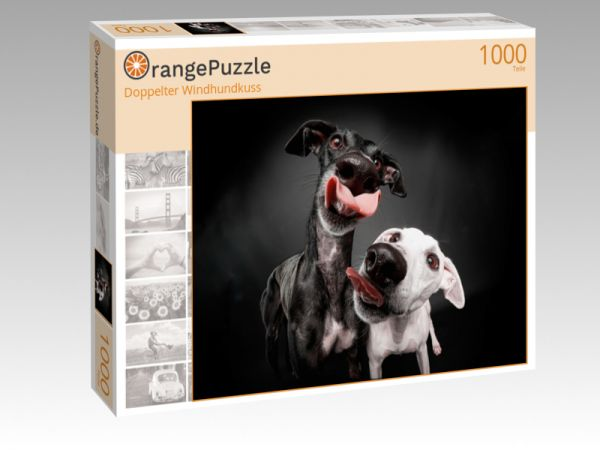"Puzzle Motiv ""Doppelter Windhundkuss"" - Puzzle-Schachtel zu 1000 Teile Puzzle"
