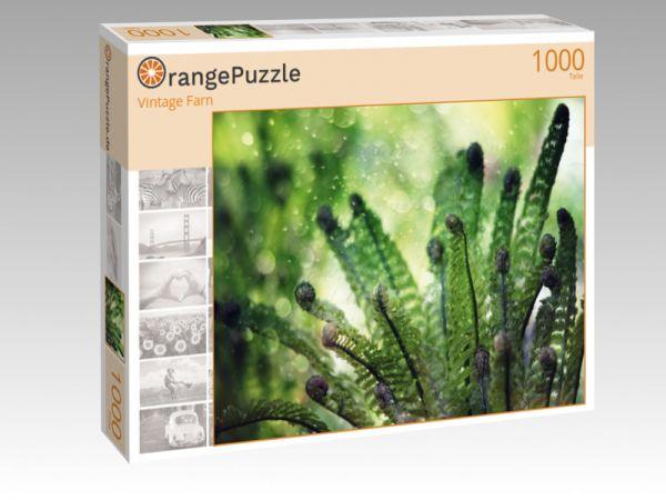 """Puzzle Motiv """"Vintage Farn"""" - Puzzle-Schachtel zu 1000 Teile Puzzle"""