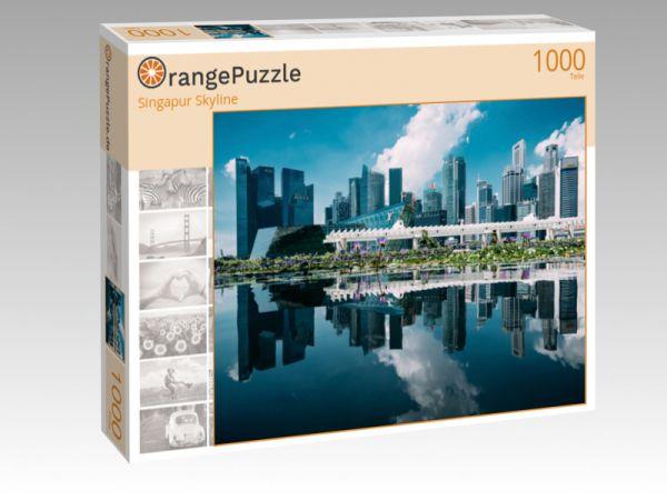 """Puzzle Motiv """"Singapur Skyline"""" - Puzzle-Schachtel zu 1000 Teile Puzzle"""