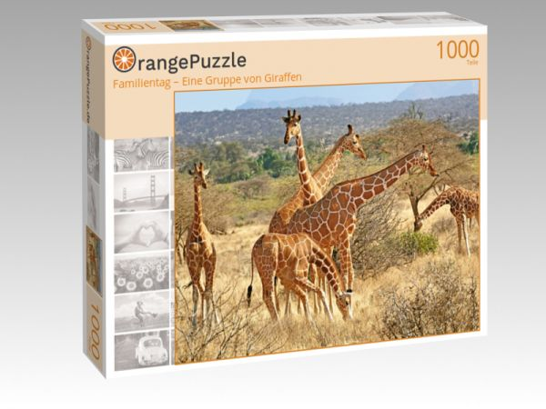 """Puzzle Motiv """"Familientag – Eine Gruppe von Giraffen"""" - Puzzle-Schachtel zu 1000 Teile Puzzle"""
