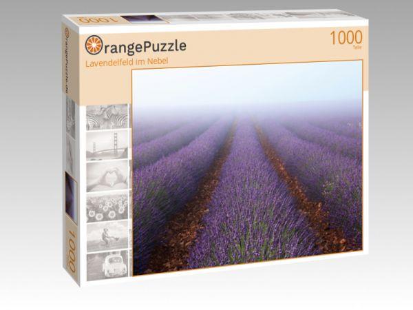 "Puzzle Motiv ""Lavendelfeld im Nebel"" - Puzzle-Schachtel zu 1000 Teile Puzzle"