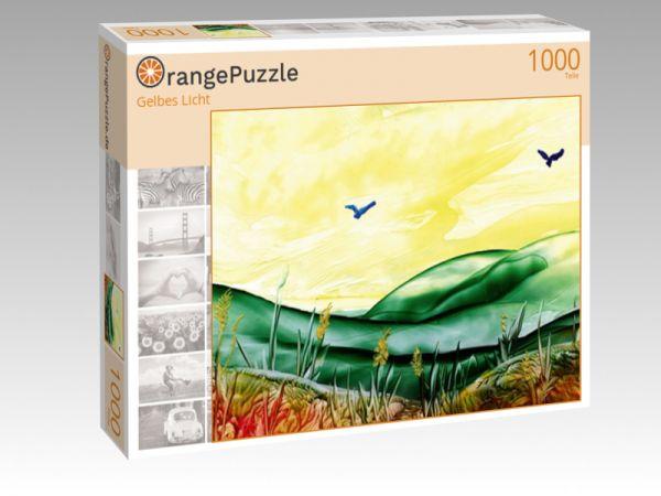 """Puzzle Motiv """"Gelbes Licht"""" - Puzzle-Schachtel zu 1000 Teile Puzzle"""