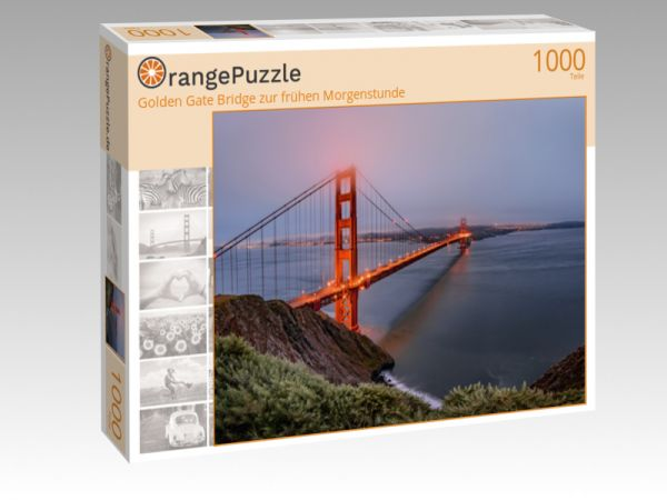 """Puzzle Motiv """"Golden Gate Bridge zur frühen Morgenstunde"""" - Puzzle-Schachtel zu 1000 Teile Puzzle"""
