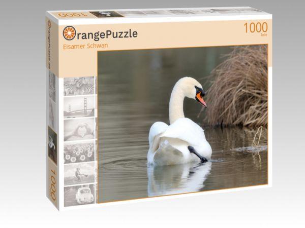 """Puzzle Motiv """"Eisamer Schwan"""" - Puzzle-Schachtel zu 1000 Teile Puzzle"""