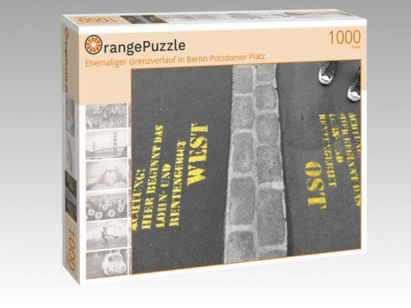 """Puzzle Motiv """"Ehemaliger Grenzverlauf in Berlin Potsdamer Platz"""" - Puzzle-Schachtel zu 1000 Teile Puzzle"""