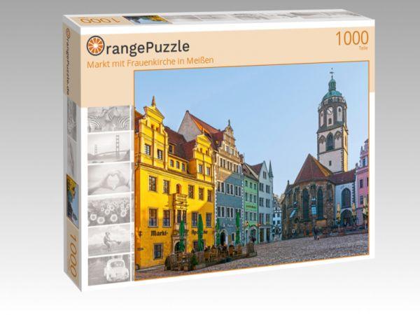 """Puzzle Motiv """"Markt mit Frauenkirche in Meißen"""" - Puzzle-Schachtel zu 1000 Teile Puzzle"""