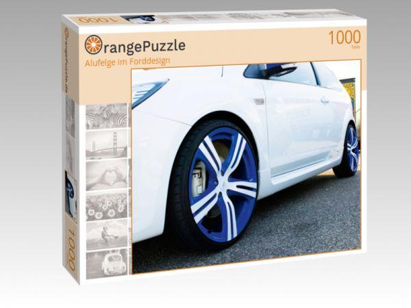 "Puzzle Motiv ""Alufelge im Forddesign"" - Puzzle-Schachtel zu 1000 Teile Puzzle"