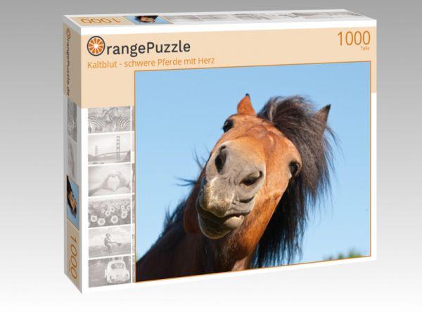 """Puzzle Motiv """"Kaltblut - schwere Pferde mit Herz"""" - Puzzle-Schachtel zu 1000 Teile Puzzle"""