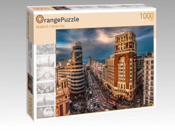 """Puzzle Motiv """"Madrid / Gran Via"""" - Puzzle-Schachtel zu 1000 Teile Puzzle"""