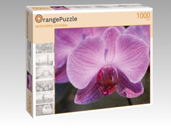 """Puzzle Motiv """"zartviolette Orchidee"""" - Puzzle-Schachtel zu 1000 Teile Puzzle"""