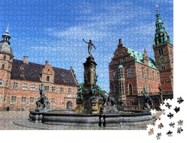 "Puzzle-Motiv ""Schloss Frederiksborg"" - Puzzle-Schachtel zu 1000 Teile Puzzle"