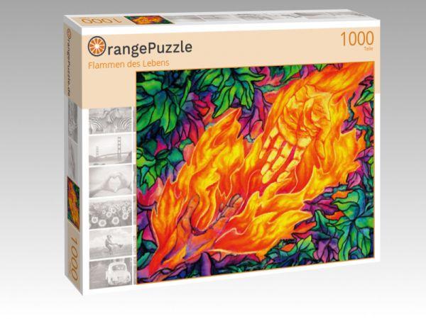 """Puzzle Motiv """"Flammen des Lebens"""" - Puzzle-Schachtel zu 1000 Teile Puzzle"""