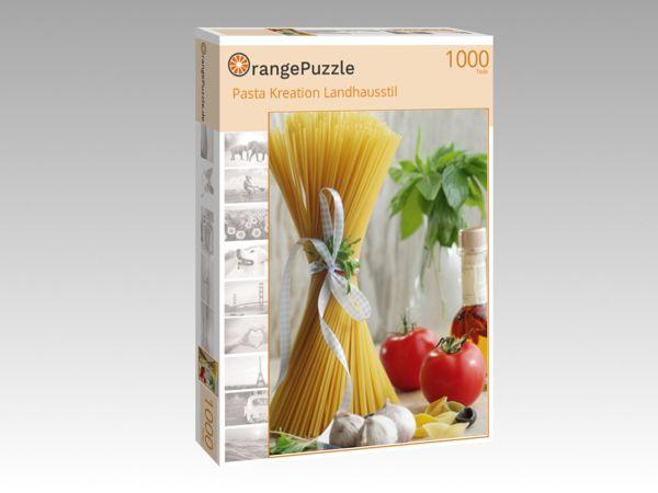 "Puzzle Motiv ""Pasta Kreation Landhausstil"" - Puzzle-Schachtel zu 1000 Teile Puzzle"