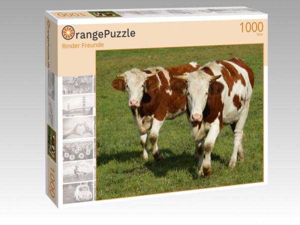 """Puzzle Motiv """"Rinder Freunde"""" - Puzzle-Schachtel zu 1000 Teile Puzzle"""