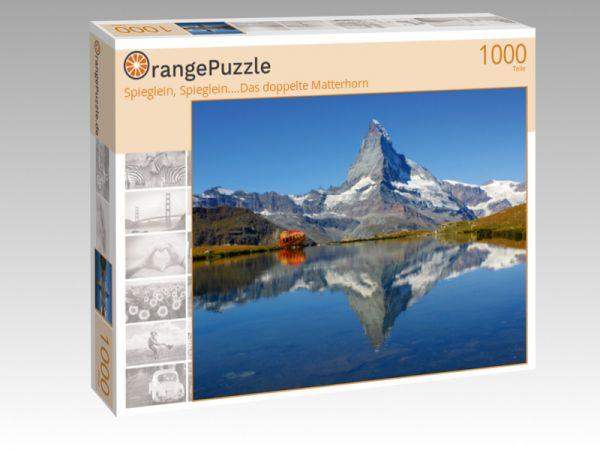 """Puzzle Motiv """"Spieglein, Spieglein....Das doppelte Matterhorn"""" - Puzzle-Schachtel zu 1000 Teile Puzzle"""