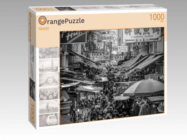 """Puzzle Motiv """"Markt"""" - Puzzle-Schachtel zu 1000 Teile Puzzle"""