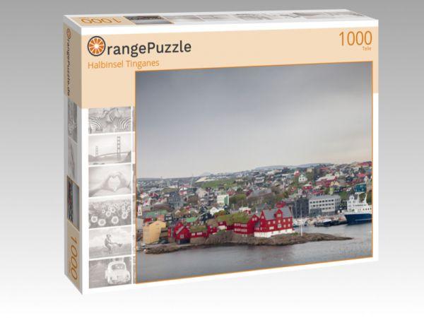 """Puzzle Motiv """"Halbinsel Tinganes"""" - Puzzle-Schachtel zu 1000 Teile Puzzle"""
